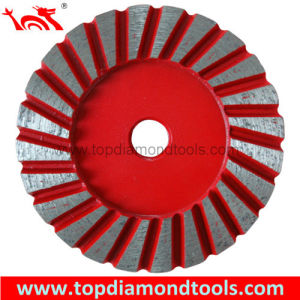 "Diameter 4"" Turbo Grinding Cup Wheel for Grinding Concrete pictures & photos"