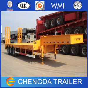 Heavy Duty 4 Axles 100 Ton Lowbed Trailer for Sale pictures & photos