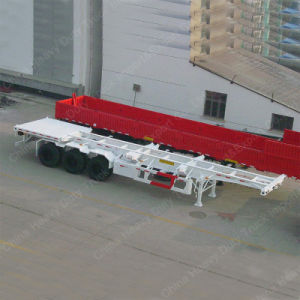 3 Axle Trailer 40FT Truck Trailer Chasis Skeleton Semi Trailer pictures & photos