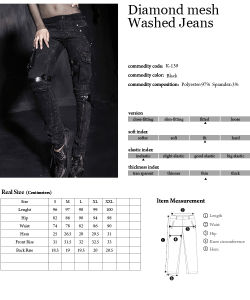 Ladies Fancy Inelastic Diamond Mesh Washed Jeans (K-139W) pictures & photos