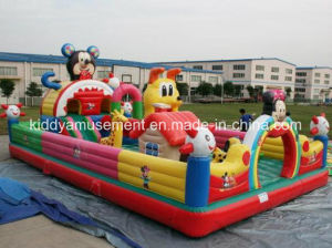 Small Inflatable Fun City Bouncer Inflatable Castle for Children Playground