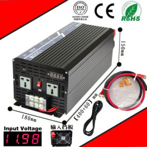 1500W DC-AC Inverter 12VDC or 24VDC to 110VAC or 220VAC Pure Sine Wave Inverter with AC Charge CE RoHS Approved pictures & photos