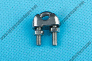 China Manufacturer Rigging Hardware DIN 741 Stainless Steel Wire Rope Clamp pictures & photos