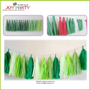 Tissue Paper Tassel for Christmas Decoration