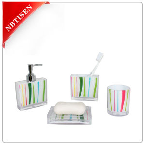 Acrylic/Plastic Bathroom Accessories Set (TS8001-with printing)