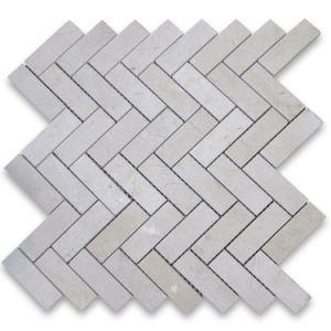 Crema Marfil Mini Herringbone Marble Mosaic Tile pictures & photos