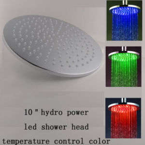 10 Inch Round Color Changing Light up Shower Head