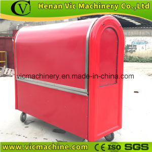 So cheap hand push food trailer with lockers pictures & photos