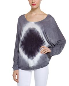Ladies′ Tie Dye Dolman Sleeves T-Shirt