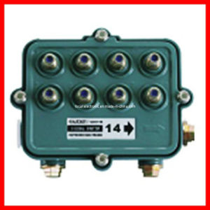 1GHz Outdoor CATV Splitter 5-1000MHz, F Field Half Power Pass CATV Outdoor Tap and Satellite Splitter pictures & photos
