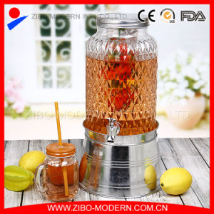 Glass Mason Jar Beverage Juice Dispenser with Tap pictures & photos