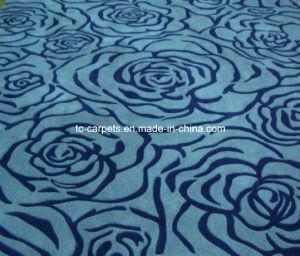 Blue Flowers Design /Hand Tufted Carpet