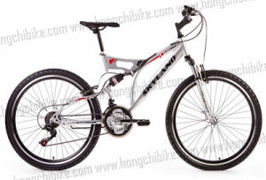 Alloy Frame MTB Bike Full Suspension Bicycle with High Bumper (HC-TSL-MTB-94032) pictures & photos