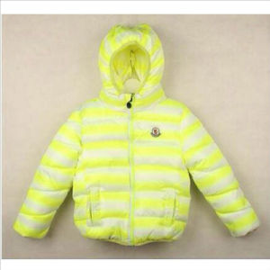 Striped Children′s Cotton Padded with Hood for Winter Clothing pictures & photos