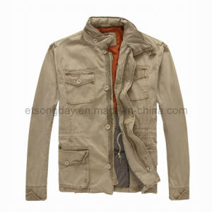 Khkai 100% Cotton Men′s Padding Outwear Jacket (TTU007) pictures & photos