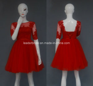 Short Evening Party Dress Red A-Line Wedding Bridal Gown Z5003 pictures & photos