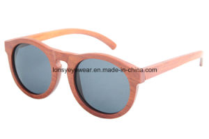 Wooden Sunglasses with CE Polarized Lens UV400 Protection (LS3002-C3)