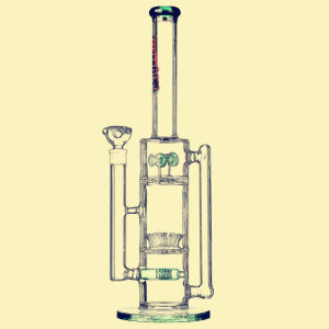 Wholesale High Quality 47cm Recycler Colored Matrix Borosilicate Material Glass Smoking Water Pipes pictures & photos