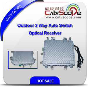 Outdoor 2 Way Output Auto-Switch Optical Receiver with AGC Csp-1011 pictures & photos