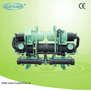 Double Compressor Open Type Screw Water Chiller pictures & photos