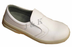 White Safety Shoes Made of Leather (JK46021) pictures & photos