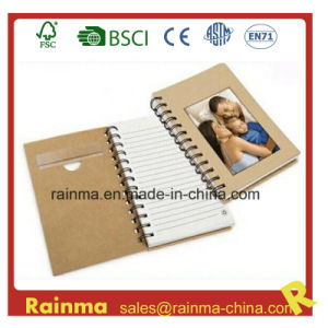Eco Paper Spiral Notebook with Photo Frame Cover pictures & photos