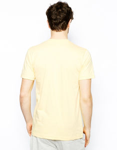 Custom Men′s Plain Yellow T Shirt pictures & photos