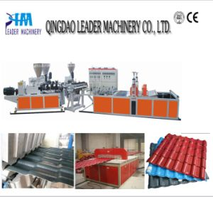 Plastic Glazed Roof Tile Making Line pictures & photos