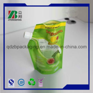 Custom Printng Matt Black Vacuum Sealed Bag Plastic Packaging Printing Doypack with Spout for Juice, Wine, Milk and Beverage Packaging pictures & photos