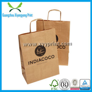 Custom Brown Kraft Paper Bag with Competitive Price pictures & photos