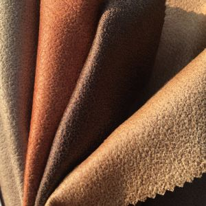 Easy Cleaning PVC Looking Velvet Sofa Fabric (621) pictures & photos