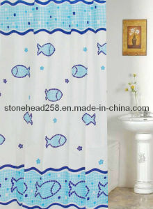Kids Bathroom Accessories: Kids Fish Pattern Shower Curtain in