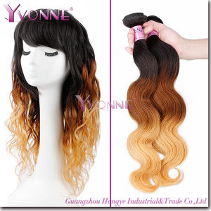 Best Quality Body Wave Ombre Color Peruvian Remy Human Hair pictures & photos