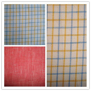Yarn Dyed Linen Check Fashion Fabric pictures & photos