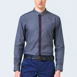 Fashionable Business Solid Color Long Sleeves Mens Dress Shirts pictures & photos