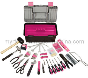 170 Piece Household Tool Kit with Tool Box- Pink pictures & photos