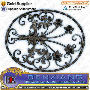 Garden Decor Metal Gate Decorative Wrought Iron Rosettes Fence Flower Panels pictures & photos