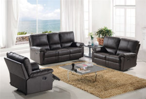 Modern Leather Sofa Sets Manual Function Furniture for Living Room Used pictures & photos