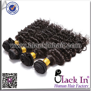 China Products Natural Black Virgin Brazilian Weave Deep Wave Hair