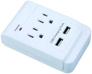 La-2s 2 Outlets Surge Protected Current Tap with USB Ports