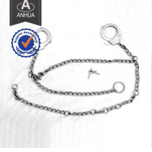 Police Carbon Steel Handcuff with Long Chain pictures & photos