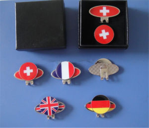 Hat Clip Made for Metal, Country Flag Hat Clip and Ball Marker (AS-Hat Clip-LU-166) pictures & photos