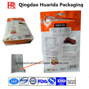 Custom Flat Bottom Standup Dog Food Packaging Bag with Zipper pictures & photos