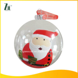 High Quality White Christmas Glass Ball for Christmas Tree Decoration pictures & photos