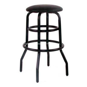 Round Metal Leg Bar Stool with PU Seat Surface pictures & photos