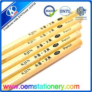 17.6*0.72cm Customized Logo Hexangular Wooden Hb Pencil