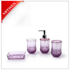 Acrylic/Plastic Crystal Bathroom Accessories Set (TS8005-4) pictures & photos