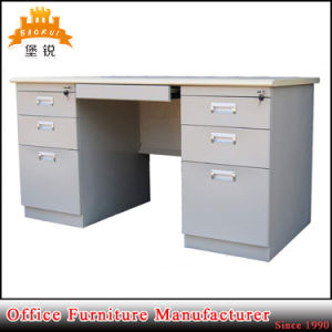 Steel Furniture White Customized Metal Management Desk Executive Table Office Table with Double Pedestal pictures & photos