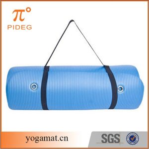 Blue High Density NBR Yoga Mat with Eyelet pictures & photos