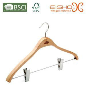 Natural Beech Wood Hanger for Luxury Hotels Amenties pictures & photos